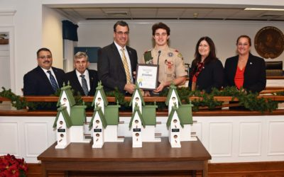 BOARD RECOGNIZES EAGLE SCOUT