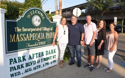 Mayor and Trustees Welcome Residents to Park After Dark